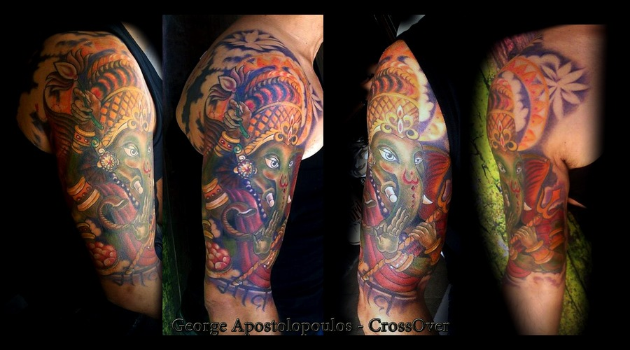 Free Hand Lord Ganesh   Custom Color Arm