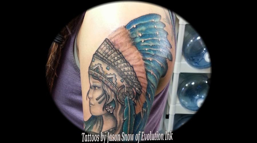 Native American Color Shoulder