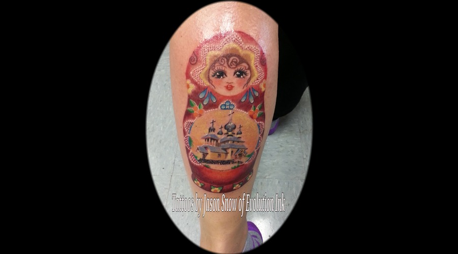 Realism  Russian  Nesting Doll  Color Lower Leg