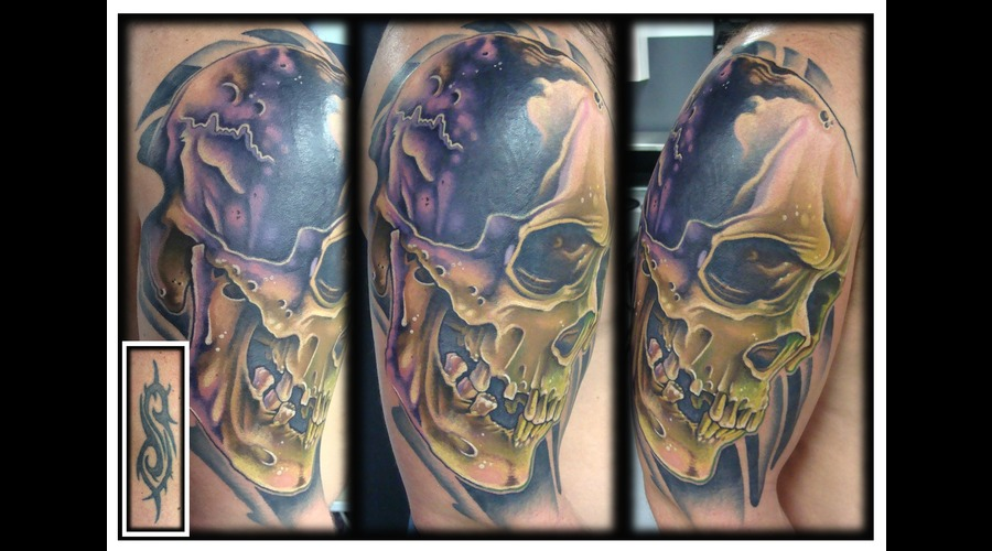 Skull  Color  Realism  Cover Up Color Arm