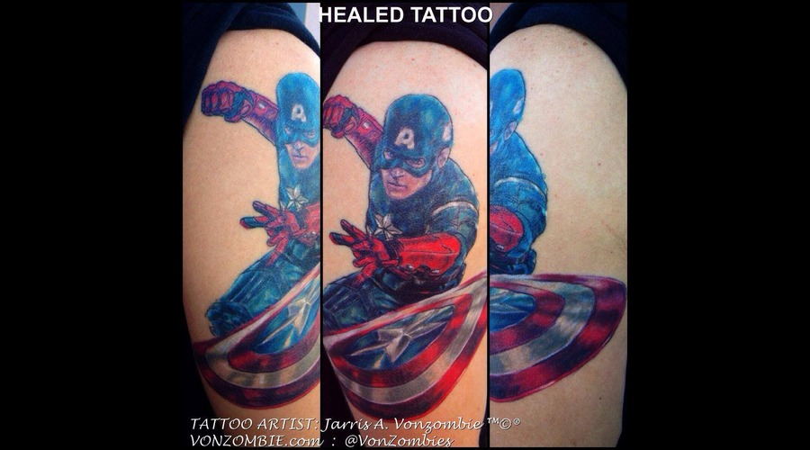 Marvel  Realism  Healed  3d  Avengers  Color  Captain  America Color Shoulder