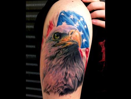 Eagle  Patriotic  American  Realistic  Realism  Wildlife  Animals Color Arm