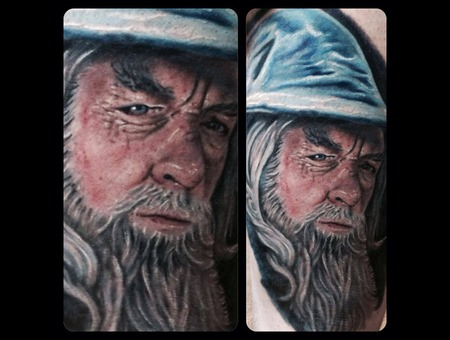 Gandalf  Lord Of The Rings  Portrait  Realistic  Wizard Color Thigh
