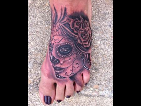 Dios De La Muerte  Foot  Black And Grey