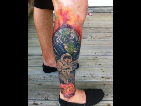 Space  Astronaut  Galaxy  Globe  Earth  Spaceman Color