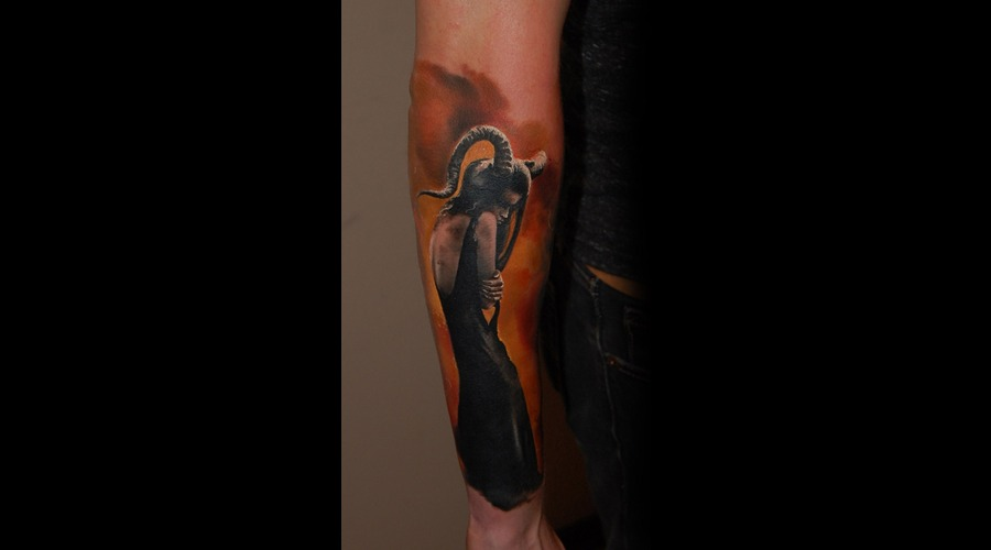 Dark  Beauty  Tattoo Cheyenne Color Arm