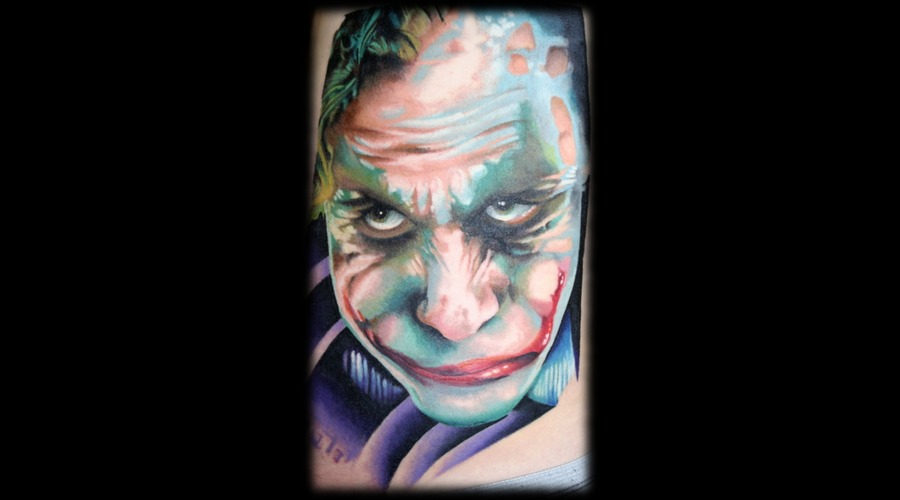 Joker  Portrait  Color  Heath Ledger Color Ribs