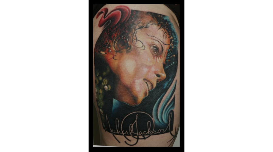 Portrait  Color  Micheal Jackson Color Thigh