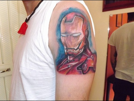 Iron Man  Color Forearm