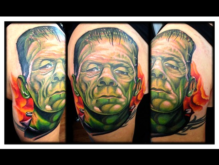 Cover Up  Frankenstein  Frank  Portrait  Realism  Monster Color Arm