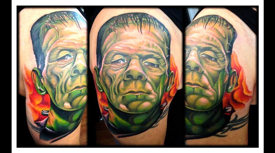Cover Up  Frankenstein  Frank  Portrait  Realism  Monster Color Arm