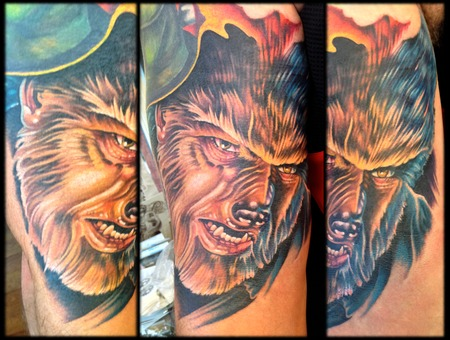 Wolfman  Wolf  Portrait  Monster  Cover Up Color Arm