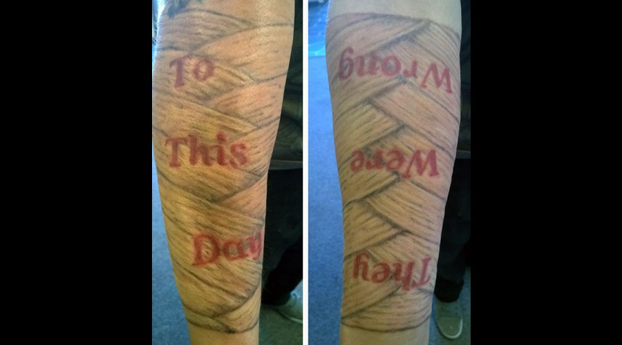 Bandages Black Grey Forearm