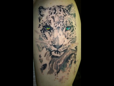 Watercolor Leopard Color Arm