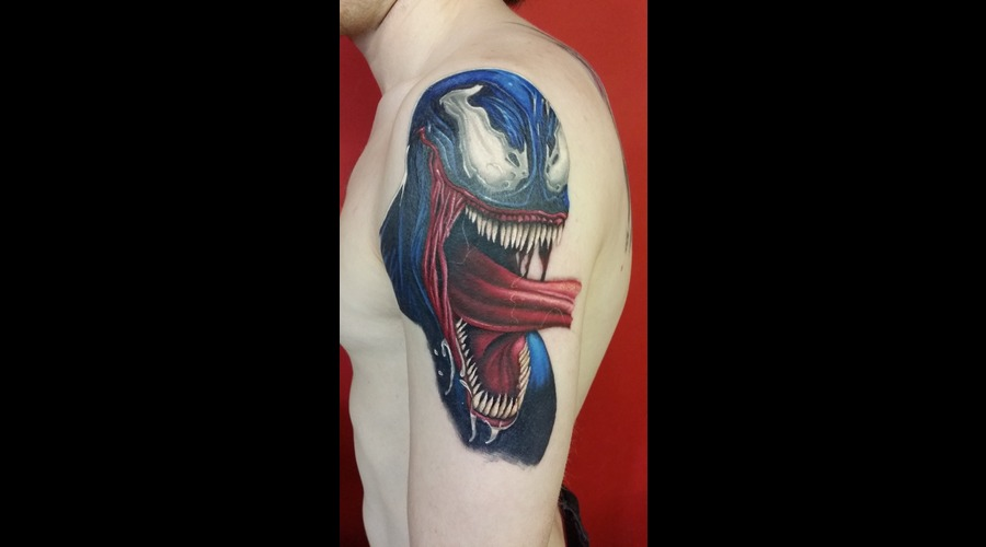 Spider Man  Spiderman  Venom  Marvel Color Arm