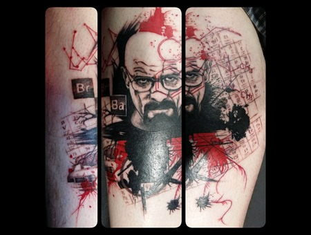 Breaking Bad  Walter White  Hiesenburg  Abstract Graphical Color Lower Leg