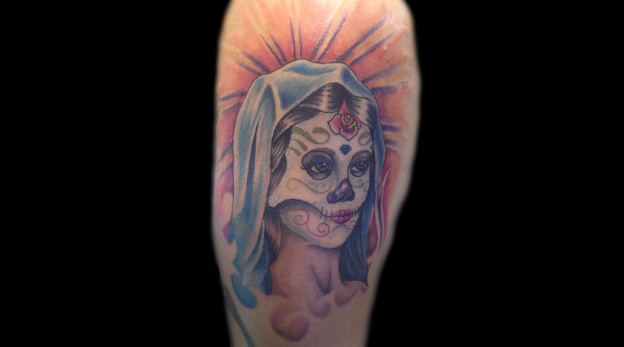 Color  Virgin Mary  Cinco De Mayo Color Arm