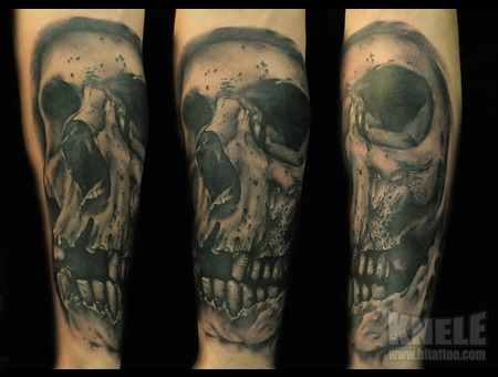Skull Tattoo Ink Art Arm