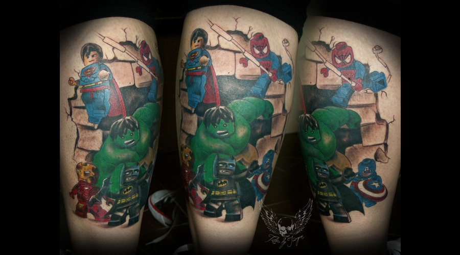 Color  Realistic  Tattoo  Austria  Jürgen Platzer  Color Lower Leg