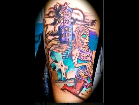 This Was A Cover Up. Color Forearm
