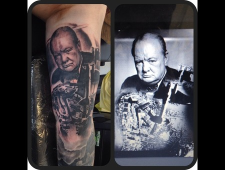 Winston Churchill Black Grey Arm