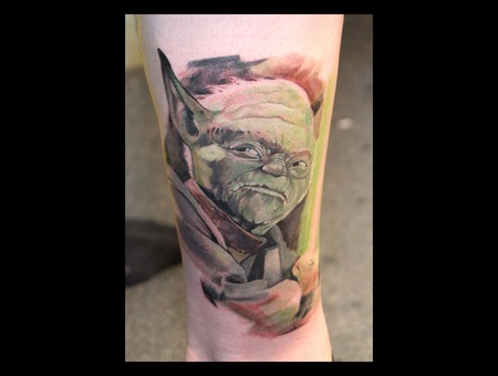 Yoda  Star Wars  Realism  Fan Art Color Lower Leg