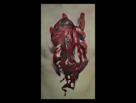Heart  Blood  Bleeding  Hands  Realism  Abstract Color Chest