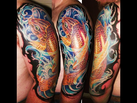 Koi  Water  Fish  Wild Life  Cover Up Color Shoulder