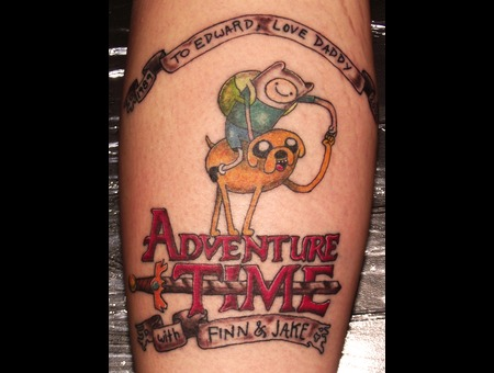 Lettering  Adventure Time   Color Lower Leg