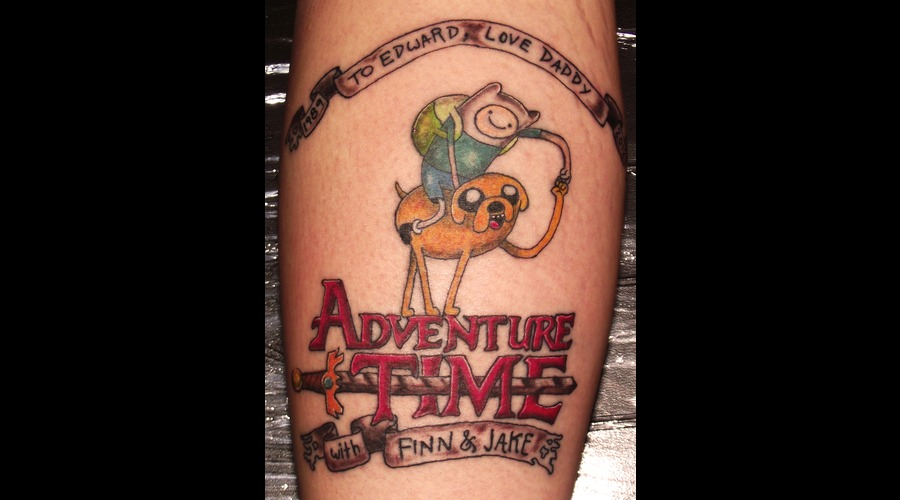 Lettering  Adventure Time   Color Lower Leg