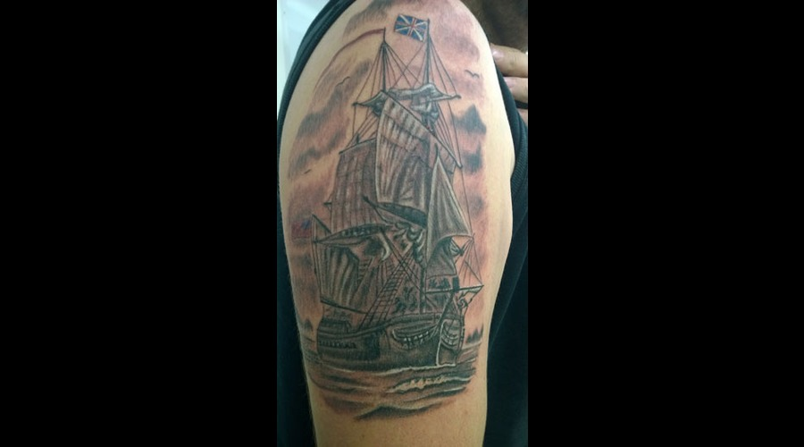 Tall Ship Black Grey Arm