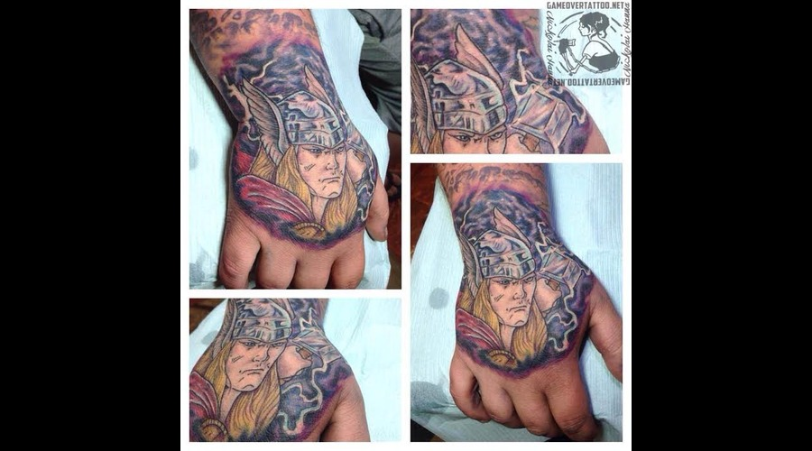Thor  Hand  Comic  Small  Detail Color Arm