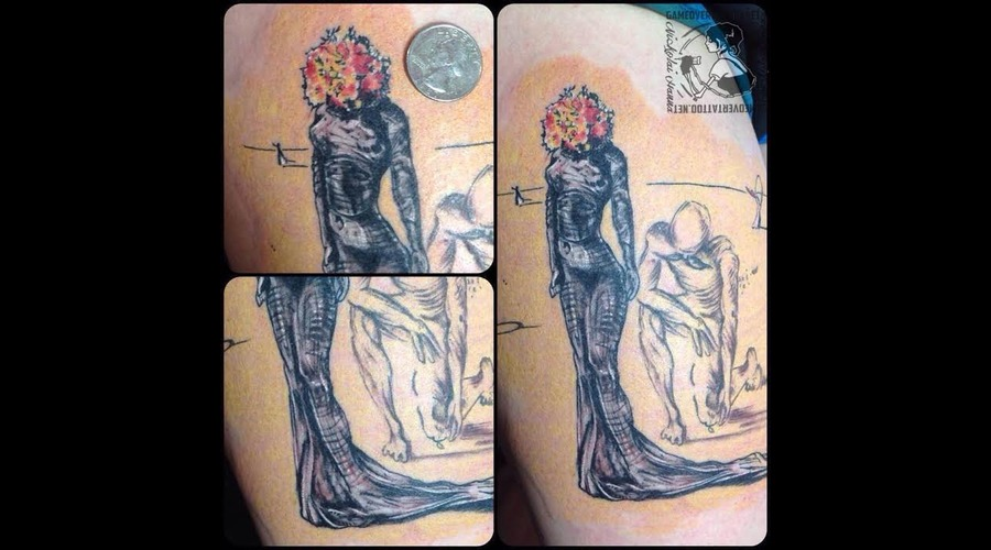 Art  Painting  Dali  Art  Flowers Color Thigh