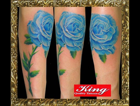 Color Flower Tattoo  King Tattoo Brazil Tattoo Color Portrait Tattoo  Ink Color
