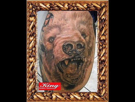 Bear Tattoo  Brack And Grey Tattoo  Portrait Tattoo Black White