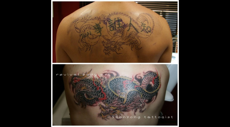 Cover Up  Dragon  Fire Color Arm