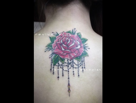 New School Rose  Dangle Jewellery Color Back