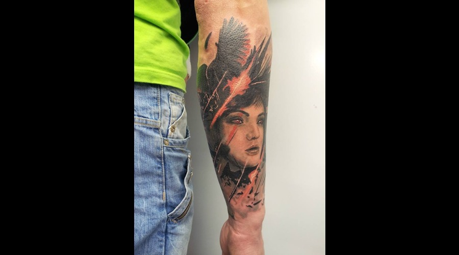 Face  Surrealism  Crow Color Forearm