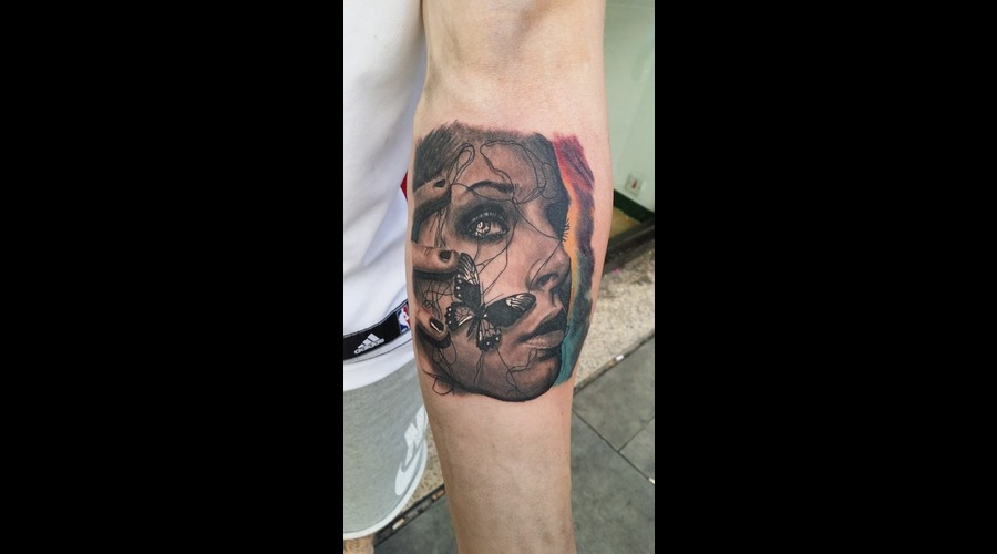 Face  Butterfly  Realism Color Forearm