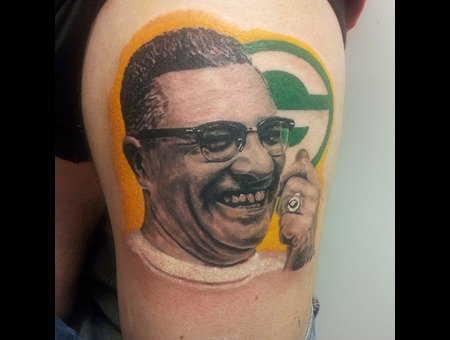 Portrait  Rugby  Vince Lombardi Color Thigh