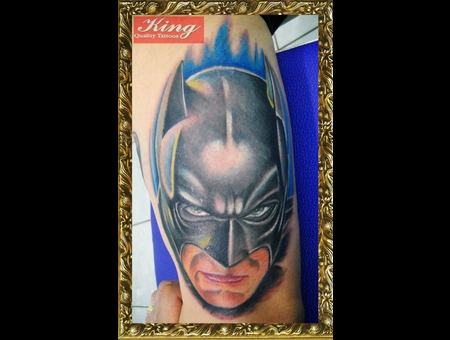 Cartoon Tattoo  Batman Tattoo  Color Tattoo  Comics Tattoo Color
