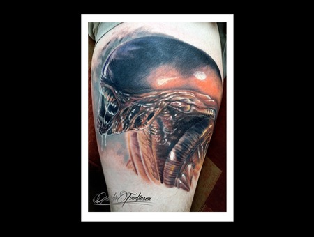 Alien Movie Horror Classic Cool Dark Amazing Bright Detail Detailed  Color Thigh