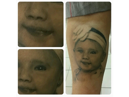 Portrait Portrate Face  Black Grey Forearm