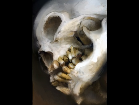 Painting Art Fineart Skull Color