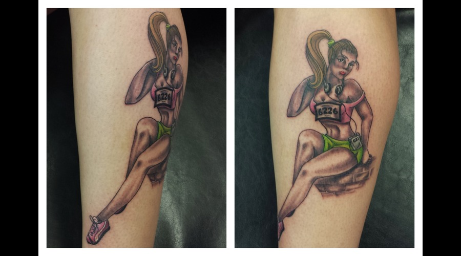 Pinup Color Lower Leg