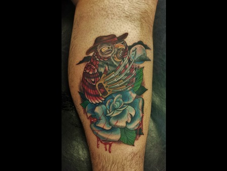 Owl  Freddy Kruger  Rose Color Lower Leg