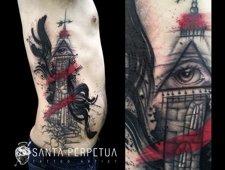 Santa Perpetua  Black Sails  Tattoo  Graphic  Art  Uk  Brighton Color Ribs