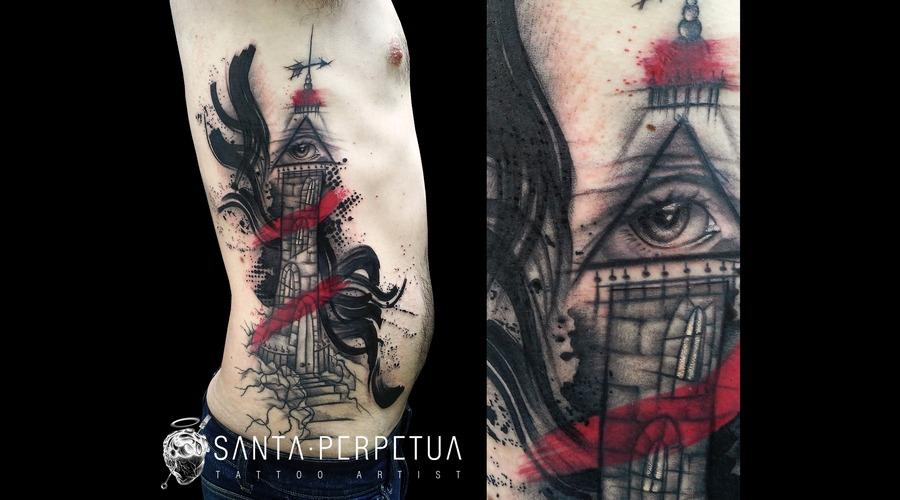 Santa Perpetua  Black Sails  Tattoo  Graphic  Art  Uk  Brighton Color Ribs