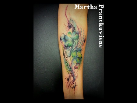 Shamrock   Abstract  Watercolour  Watercolor  Color Forearm