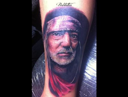 Portrait  Willie Nelson  Bandana  Beard  Old Man Color